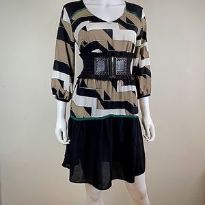 Kenneth Cole New York Mixed Media Dress
